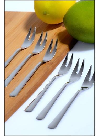 Kitchen Love 6Lı Limon Çatalı-304 Metal-3Mm-14Cm Gümüş